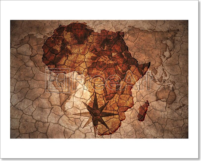 d37348f5f4 Vintage Africa Map Art Print Home Decor Wall Art Poster - E