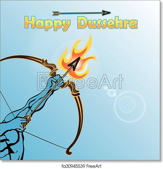 Free art print of Lord Rama arm with bow arrow  Happy Dussehra
