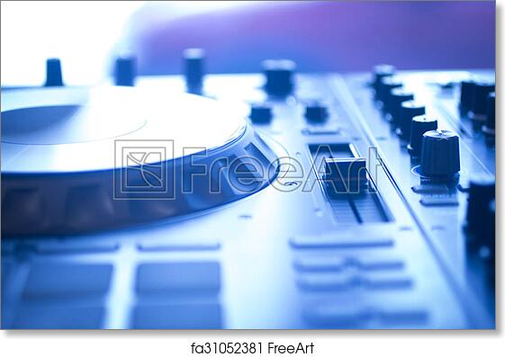 Free Art Print Of Dj Console Mixing Desk Ibiza House Music Party
