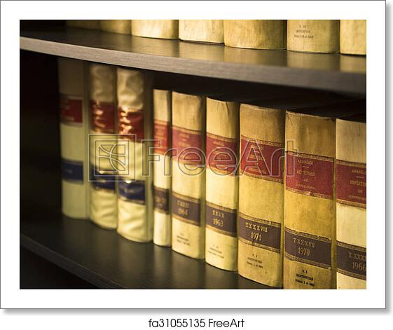 Free Art Print Of Old Legal Books Spanish Law Reports Library Spain