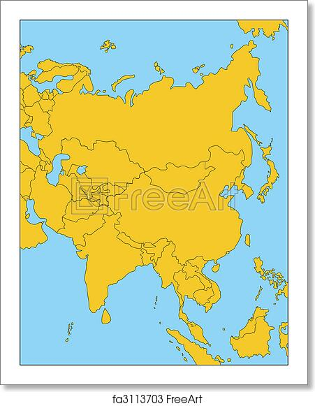 Regional Map Of Asia.Free Art Print Of Comonwealth Of Independent States Russia And Asia