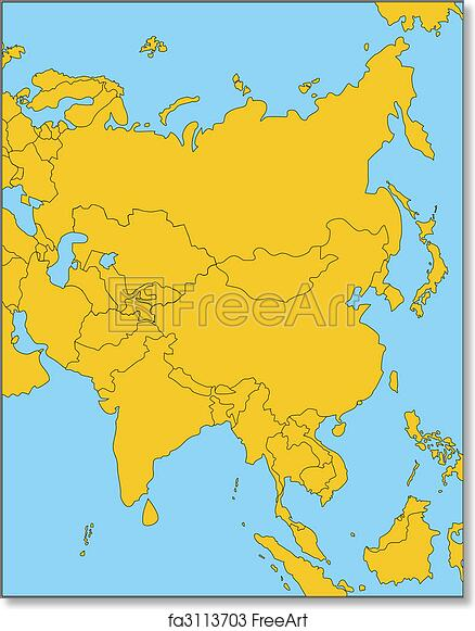 Free Art Print Of Comonwealth Of Independent States Russia And Asia