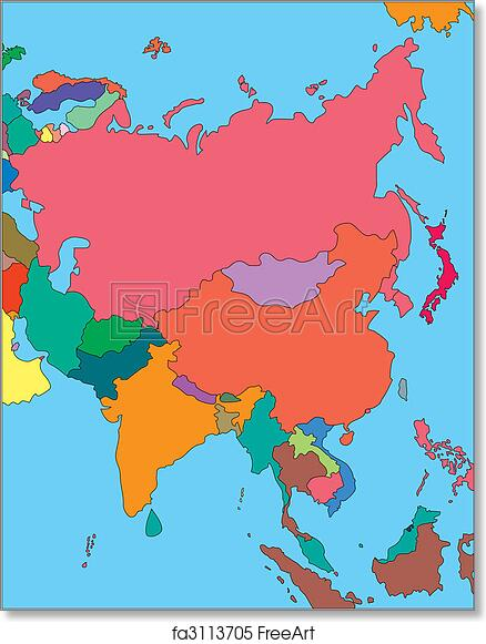 Free art print of Comonwealth of Independent States, Russia and Asia ...