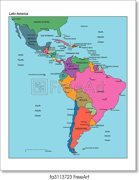 Free art print of Latin America with Editable Countries, Names Map Latin America on china map, carribean map, emea map, indigenous peoples of the americas, south asia, haiti map, latin americans, africa map, spanish language, asia map, eastern europe, central america, latin language, costa rica, canada map, united states map, india map, north america, guyana map, dominican republic map, australia map, sub-saharan africa, north africa, southeast asia, spain map, mexico map, panama map, guatemala map, western europe, latin american culture, europe map, chile map, south america, brazil map, east asia, hispanic and latino americans, western hemisphere map, united states of america,