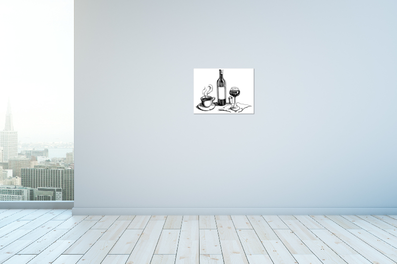 thumbnail 14 - Wine And Coffee On Art Print / Canvas Print. Poster, Wall Art, Home Decor - D