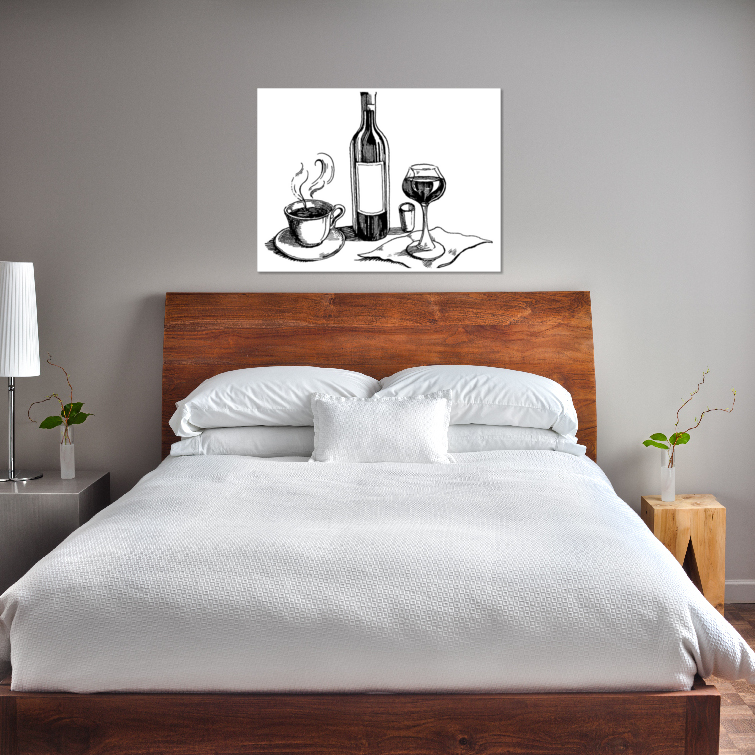 thumbnail 17 - Wine And Coffee On Art Print / Canvas Print. Poster, Wall Art, Home Decor - D