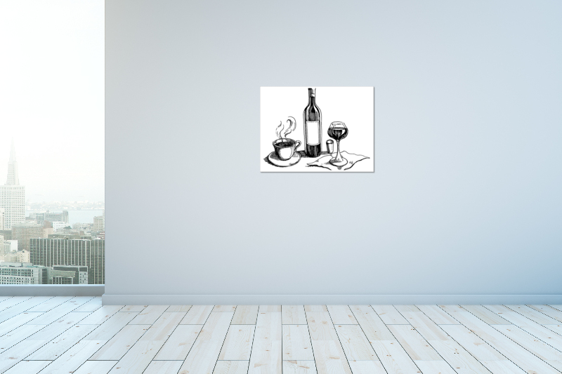 thumbnail 19 - Wine And Coffee On Art Print / Canvas Print. Poster, Wall Art, Home Decor - D
