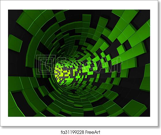 Free Art Print Of Abstract 3d Rendering Of Futuristic Tunnel