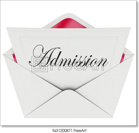 Free art print of admission word invitation card envelope attend free art print of admission word invitation card envelope attend event stopboris Images