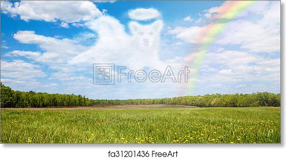 photo regarding Rainbow Bridge Printable identified as Absolutely free artwork print of Canine Ping In excess of Rainbow Bridge