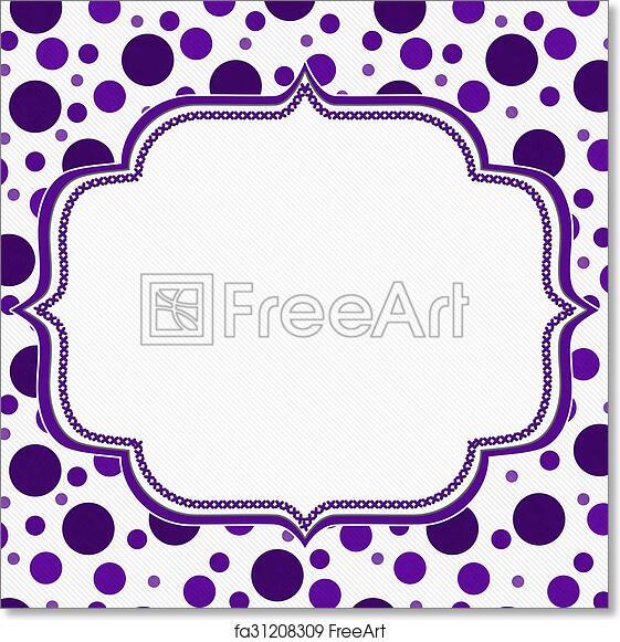 Free art print of Purple and White Polka Dot Frame Background ...