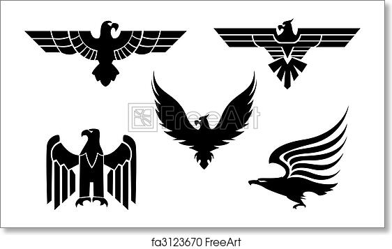 8a6b33cce Free art print of Eagle tattoos. Eagle symbol isolated on white for ...