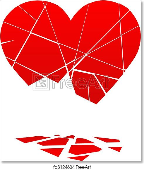 photograph about Valentine Heart Printable known as Totally free artwork print of Destroyed Valentine Middle Falls toward Components