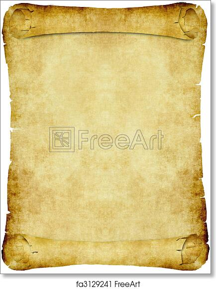 graphic regarding Scroll Paper Printable named Totally free artwork print of Typical parchment paper scroll