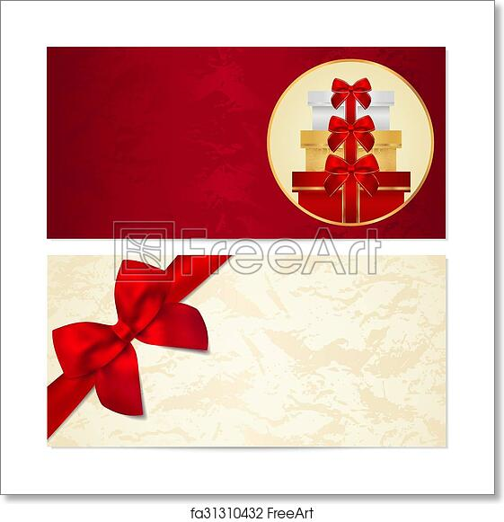free art print of gift certificate voucher coupon gift