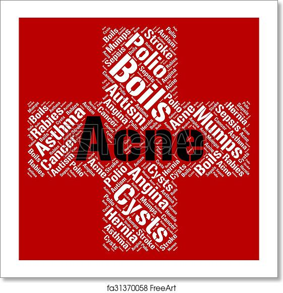 Autism And Ill Health How To Spot >> Free Art Print Of Acne Word Shows Ill Health And Afflictions