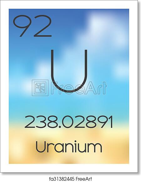 free art print of periodic table of the elements uranium - Periodic Table Of Elements Uranium