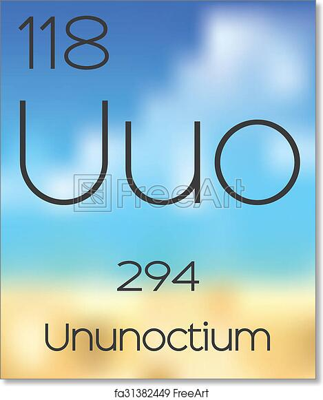 Free art print of periodic table of the elements ununoctium the free art print of periodic table of the elements ununoctium urtaz Gallery