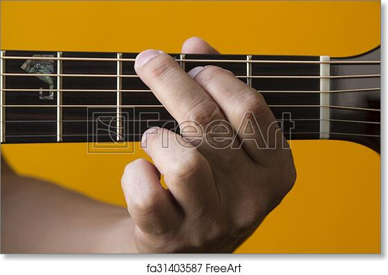 Free Art Print Of G Chord On Guitar Hand Performing G Chord On