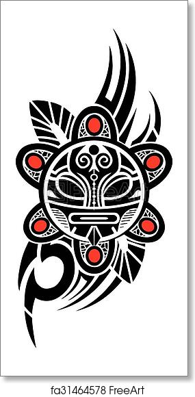 Free Art Print Of Taino Sun Tribal Vector Illustratio Ethnic Taino