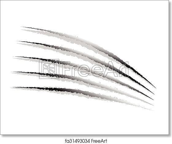 Free art print of Claw marks, claw scratches, paw marks