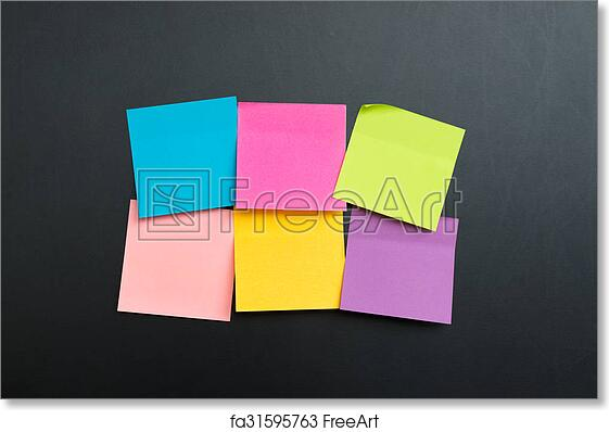 Free Art Print Of Blank Multi Color Sticky Notes