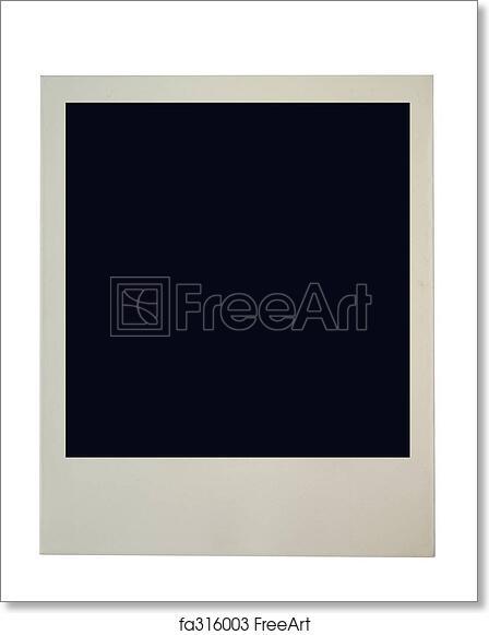 free art print of blank polaroid frame. blank polaroid frame on pure ...