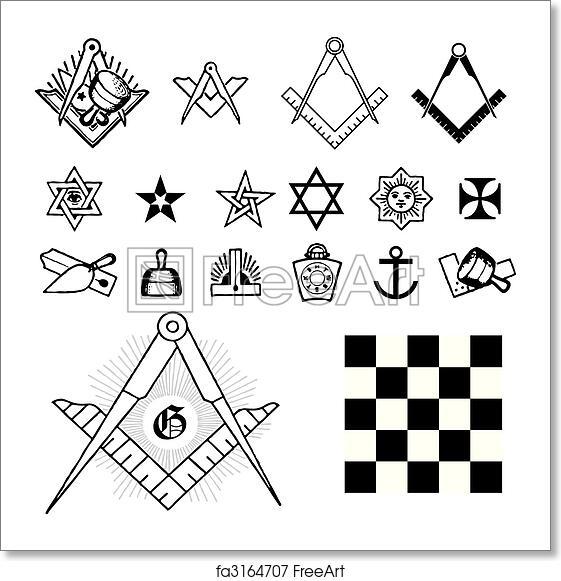 Free Art Print Of Set Of Symbol Freemason Set Of Symbol Freemason