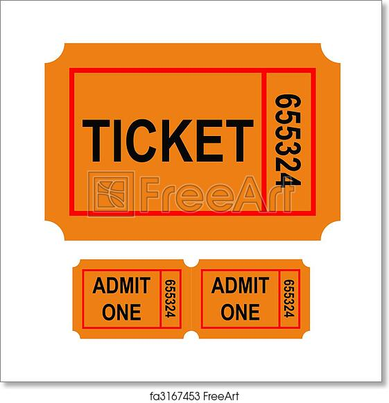 free art print of numbered ticket illustration of numbered ticket