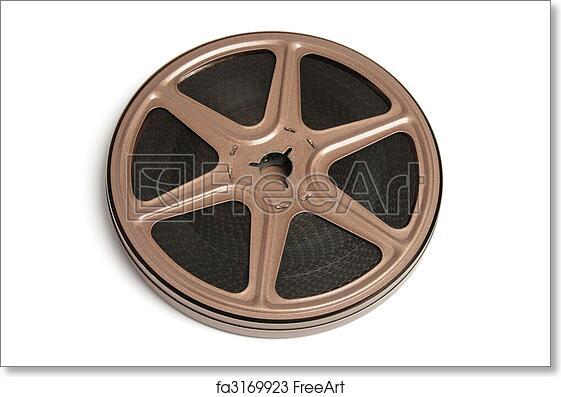 Free Art Print Of Movie Film Reel Movie Film Reel On White