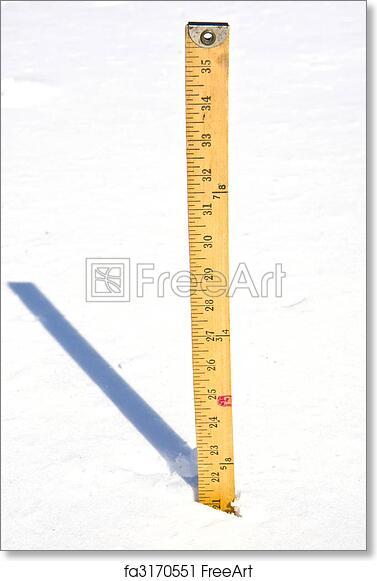 picture regarding Printable Yardstick identified as Cost-free artwork print of Measuring Snow