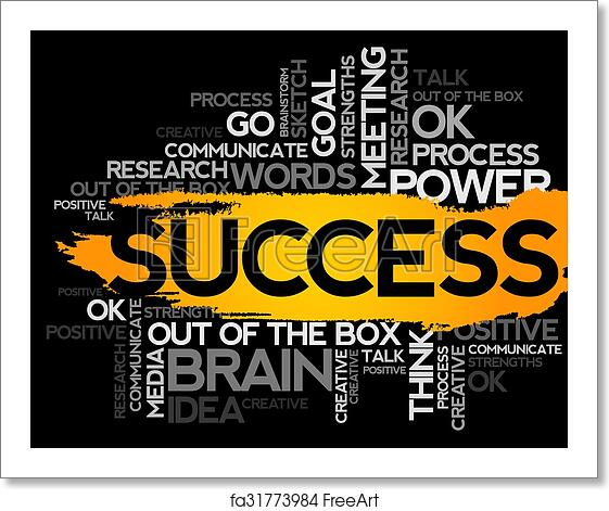 free art print of success word business collage success word