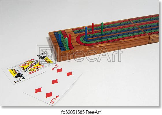 photograph regarding Printable Cribbage Board titled Absolutely free artwork print of Cribbage board