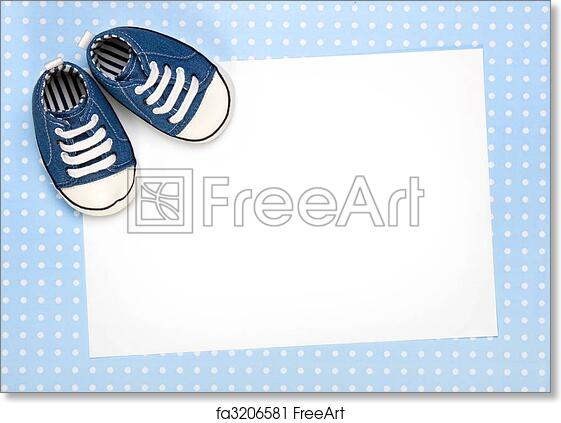 Free Art Print Of New Baby Announcement Or Invite Blank Card For