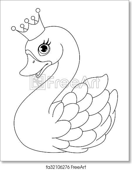 Free Art Print Of Swan Princess Coloring Page Image Cute Swan