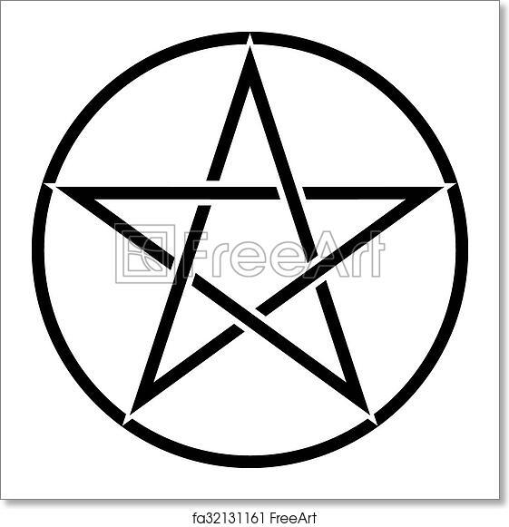 Free Art Print Of Pentagram Symbol Star Sign With Magic Evil