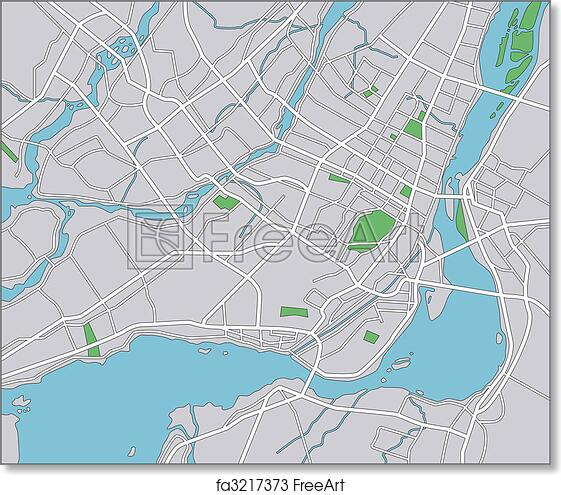 image relating to Printable Map of Montreal identified as No cost artwork print of Montreal