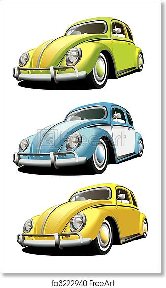 Old Fashioned Cars >> Free Art Print Of Old Fashioned Car Set