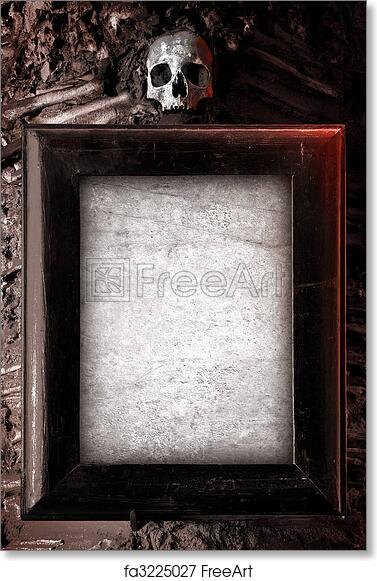 Free art print of Creepy Frame. Old wooden frame and blank paper ...