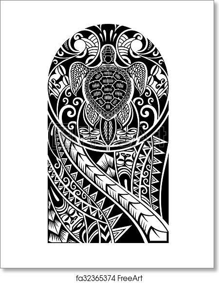 9d7620d77 Free art print of Vector tattoo. Traditional Maori tattoo design ...