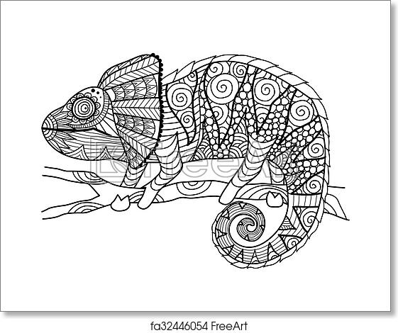 Free Art Print Of Chameleon Coloring Book