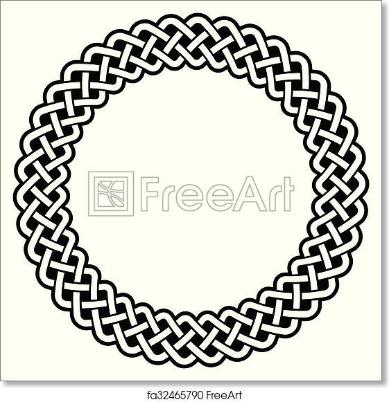 Free art print of Celtic round frame, border pattern . Irish, Celtic ...