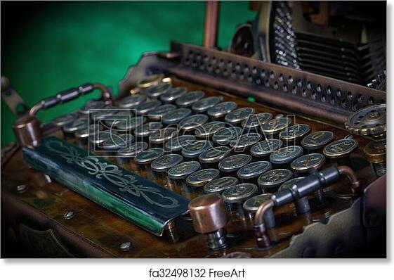 Free art print of Typewriter keyboard