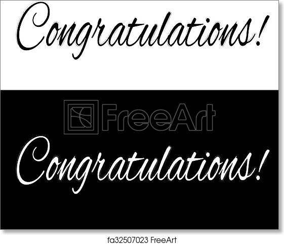 photo about Congratulations Banner Free Printable named Totally free artwork print of Black and white congratulations banner