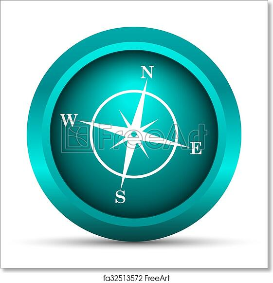 Free Art Print Of Compass Icon Compass Icon Internet Button On
