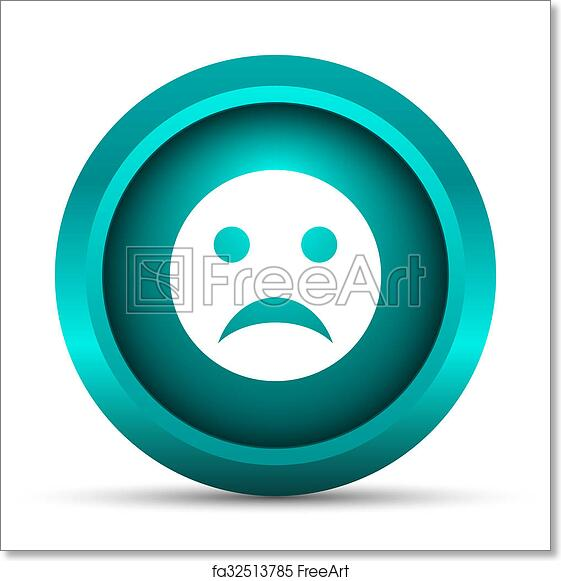 Free art print of Sad smiley icon