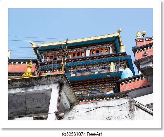 Free Art Print Of Dali Monastery Darjeeling India Dali Monastery