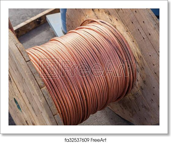 free art print of large spools of electric cable large spools of