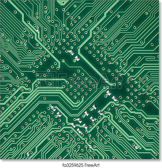 Free art print of Circuit board electronic square texture. Green ...