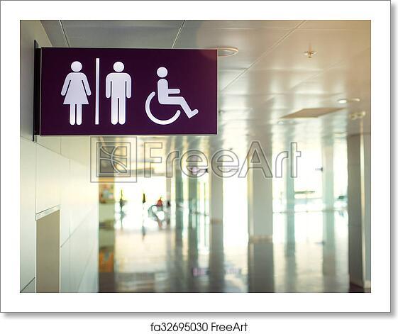 Free art print of Public restroom signs